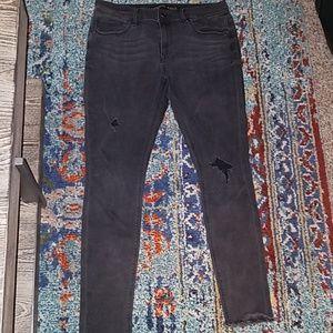 Express black distressed jeans sz 10